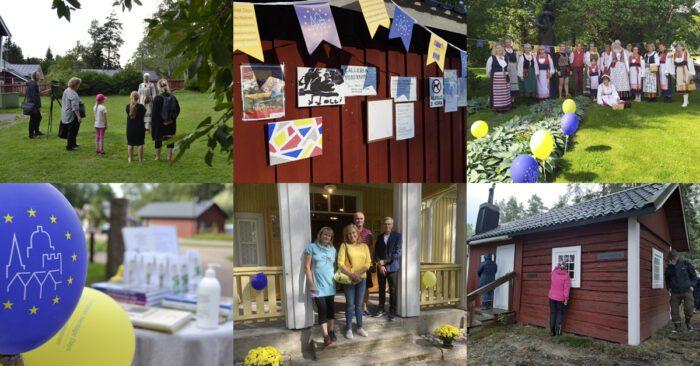 Kuvia kulttuuriympäristöpäivien tapahtumista vuodelta 2020. Kuvat: Vantaa-Seura, Leena Mulari, Anne Pihlajaniemi, Markku Juhola ja Tauno Rautio.
