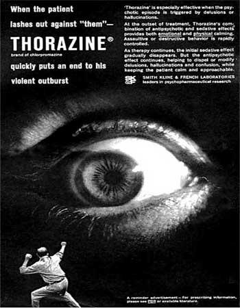 Thorazin mainos 1960-luvulta
